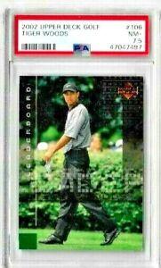 2002 Upper Deck Golf Tiger Woods Leaderboard PSA 7.5