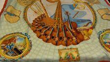 Hermes Sciarpa di seta, HOMMAGE un motzart. molto RARO vintage.
