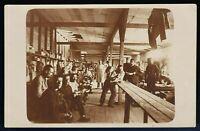 WW1 P.O.W. SOLDIERS QUARTERS PRISONERS CAMP WAR ANTIQUE PHOTO RPPC POSTCARD