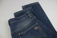 DICKIES  Men's W36/L32 Fade Effect Button Fly Blue Jeans 18459_JS