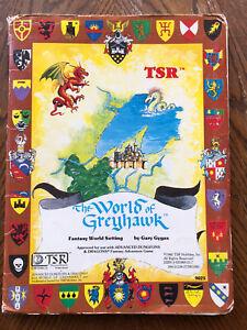 World Of Greyhawk Map and Gazetteer 1980 TSR AD&D OOP