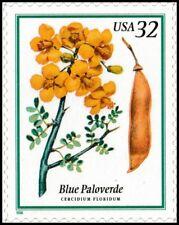 US 3194 Flowering Trees Blue Paloverde 32c single (1 stamp) MNH 1998