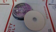 10 Blu-ray DVD 25 GB BD-R 4x Speed Inkjet Printable 3D Bluray Discs - Opened Box
