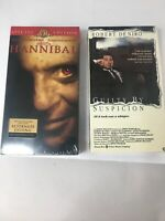 2 VHS Movies Brand New Hannibal And Guilty By Suspicion