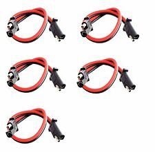 "5 pack 12"" 10 Gauge 2 Pin Quick Disconnect Imc Audio Polarized Wire Harness"