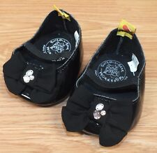Genuine Build - A - Bear Black Black Heels With Bow & Rhinestones **READ**