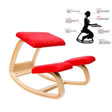 Ergonomischer Kniestuhl Bürostuhl kniender Hocker Wirbelsäulen korrektur rot