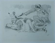 Beau Dessin Original Fusain HERMANN-PAUL (1864-1940) c.1900 #2