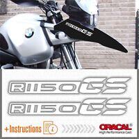 2pcs R1150 GS White BMW Motorrad ADESIVI PEGATINA STICKERS AUTOCOLLANT R 1150