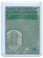 1/1 GREG MADDUX PRINTING PLATE CUBS 1997 CROWN COLLECTION ATLANTA BRAVES 1 of 1