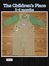 3-6 Month Children's Place 2 Piece khaki & green boys Overall pants Set