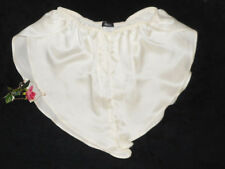 USA Large Real 100% Silk Satin Tap Panty Retro Bridal Ivory Off-white L NWT