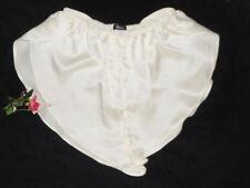 USA Large Real 100% Silk Satin Tap Panty Retro Bridal Ivory Off-white L NWT