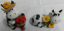Adorable Set of 2 Cow Sitters Figurines
