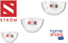 Dimple Salad Serving Bowls Clear Mixing Strong Stylish Hard High Quality Plastic