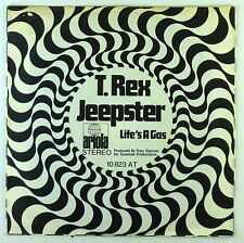 """7"""" Single - T. Rex - Jeepster / Life's A Gas - S2458 - RAR - washed & cleaned"""