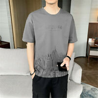 Men's Short Sleeve Shirt Sports Fashion Tee Training Baggy Hip Hop T-shirts
