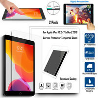 For Apple iPad 10.2 19/20(New) 2X HD Screen Protector Genuine 9H Tempered Glass
