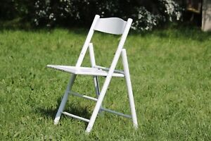 Folding Chair Wooden Garden Chair White Vintage Terrace Chair Garden Furniture