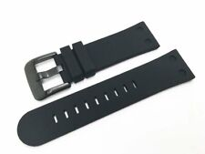 TW Steel Canteen 24mm Black Silicone Watch Strap