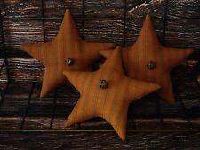 Primitive Star Bowl Fillers ~ Burnt Pumpkin Orange Homespun Fabric ~ Halloween