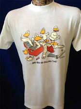 Vintage John Baron Ducktales Mallard Funny Duck Hunt Miller Beer T Shirt Large