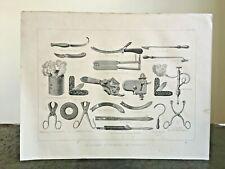 More details for antique veterinary instruments and apparatus engraving print 1878