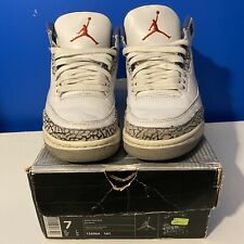 Air Jordan Retro 3 True Blue 2001 Size 7 with Original Box