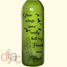 VINYL DECAL YOUR WINGS WERE READY for WINE BOTTLE, CANDLE, LANTERN 17.5 X 8 cm