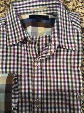 Ted Baker Seattle Check Shirt(Purple)  MSRP $145 Ted Size 1/14.5/XS