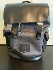 New COACH RIVINGTON BACKPACK IN SIGNATURE CANVAS 40344 Black