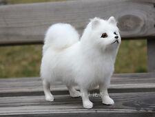 small Samoyed dog doll simulation white Samoyed dog toy about 16x14x6cm