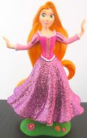 RAPUNZEL GLITTER DRESS Walt Disney Princess TANGLED PVC TOY FIGURINE Doll Figure