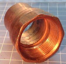 """New listing Mueller Copper 1 1/4"""" Fip Threaded Female Adapter Fitting Bn Plumbing New Older"""