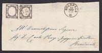 Province Napoletane GR.1 COPPIA su lettera 1862 annullo SOLOPACA cv 2250€