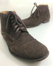 Sisley Mens 44EU 10.5 US Brown Suede Ankle Boots