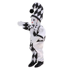 10inch Lovely Porcelain Standing Clown Doll Handicraft for Valentine Gift