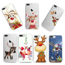 Xmas Christmas Pattern Silicone TPU Back Case Cover For iPhone X Xs Xr Huawei