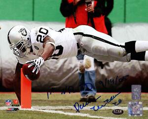 "Darren McFadden Autographed 8x10 Photo Raiders ""1st NFL TD 9/14/05"" DM 76798"