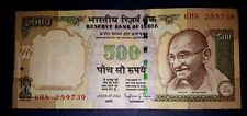 INDIA 500 RUPEES  GANDHI DANDI MARCH STATUE  INDIAN CURRENCY NOTE