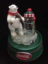 Coca Cola Rotating Polar Bear Ice Sculpture SnowMan Ornament  Centerpiece New