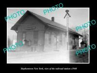 OLD LARGE HISTORIC PHOTO OF STEPHENTOWN NEW YORK THE RAILROAD STATION c1940