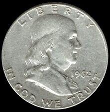 "A 1962 P Franklin Half Dollar 90% SILVER US Mint ""Average Circulation"""
