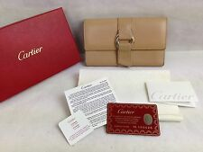 Authentic Cartier Genuine Leather Trifold Wallet 5F16T880
