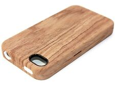 iPHONE 4 4G 4S HARD & SOFT RUBBER HIGH IMPACT HYBRID CASE COVER WOOD G