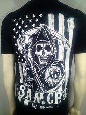 Otoño' 13 Auténtico Sons Of Anarchy Bandera Eeuu B/W Soa Samcro Camiseta S-3XL