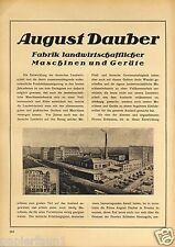 Landwirtschaft Maschinen Dauber Breslau XL Reklame 1923 Geräte Wroclaw Traktor