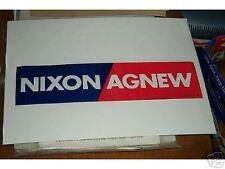 Original NIXON AGNEW  BUMPER STICKER