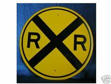 """NEW REFLECTIVE 12"""" R.R. CROSSING SIGN"""