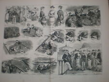 Yachting Sketches Harry Furniss large old prints 1880